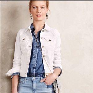 Anthro  Pilcro & Letterpress White Denim Jacket